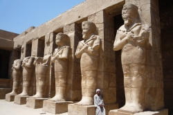 Mummy Statues at Karnak Temple