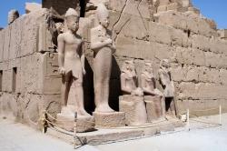 Statues at Karnak Temple