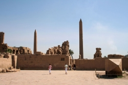 The Three Obelisks at Karnak Temple