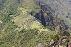 Sky View of Machu Picchu From Huayna Picchu