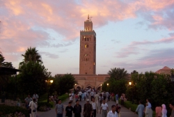 Koutoubia Mosque and a Bunch of Tourists