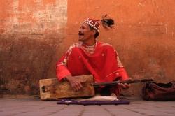 Street Musician at Marrakesh