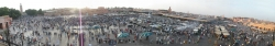 Panorama View of Marrakech Square Djemma el Fna