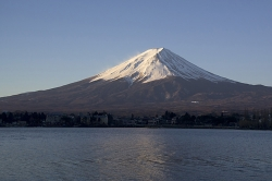 Sunrise Shot of Mt Fuji From Lake Kawaguchi
