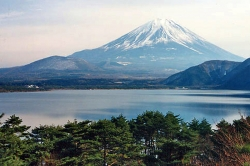 Mt Fuji Viewed From the Fuji Five Lakes Area of Yamanashi Prefecture