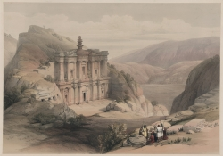 El Deir Petra Painting by David Roberts