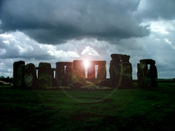 Stonehenge With Sun Glare