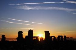 Sun Rising Over Stonehenge on the Summer Solstice on June 21 2005
