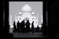 Taj Mahl Celebrate in Black & White