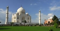 Taj Mahal From Left Angel