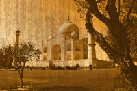 Taj Mahal Remade With Orange