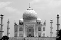 White & Black View of the Taj