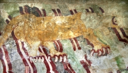 Jaguar Mural Painting Found at the Valley of the Dead