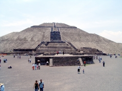 Full View of Pyramid of the Sun Up Close