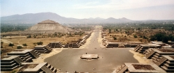 Wide View of Avenue of the Dead at Teotihuacan From the Pyramid of the Moon