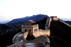 Great Wall of China Direct View With Dark Lighting