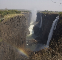 Side View of the Waterfall