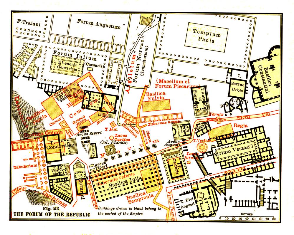 Roman Forum Map Roman Forum Location, Map, History & Pictures   Rome,